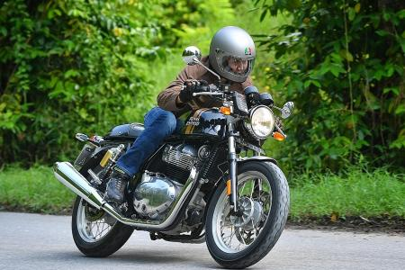 It's back to the 60s on Royal Enfield's affordable cafe racer