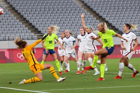 Olympics: US women's football team crash to first defeat in 45 games