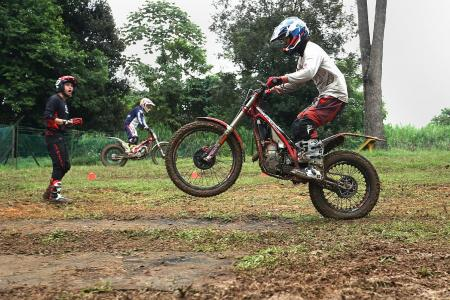 Overcoming obstacles on GasGas trials motorbikes
