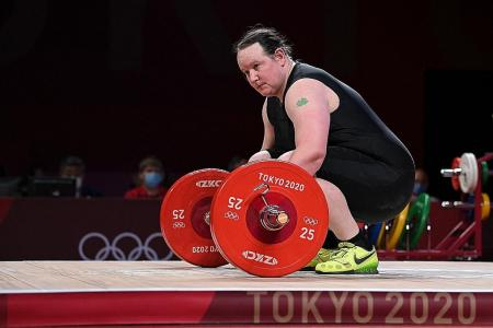 Early exit for transgender weightlifter Hubbard
