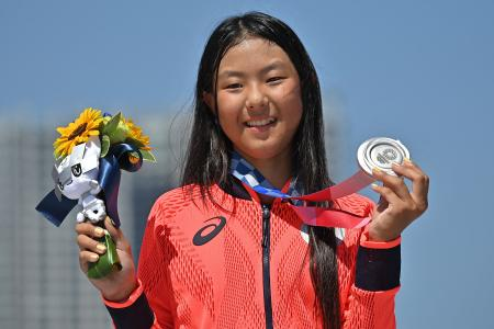 Hiraki, 12, becomes Olympics' youngest medallist since 1936