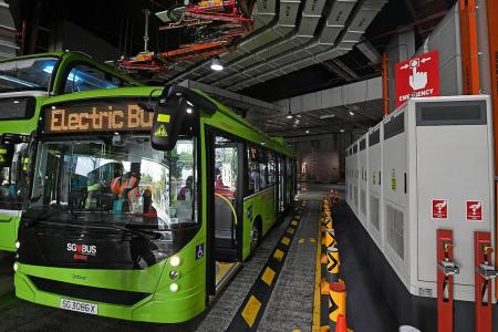 More fully electric three-door buses hit the roads here