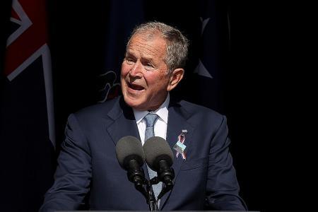 Former president Bush warns of domestic terrorism on 9/11 anniversary