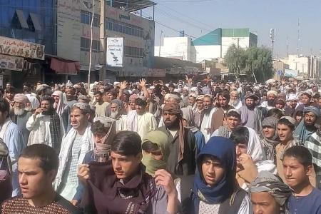 Thousands protest against Taliban over eviction order