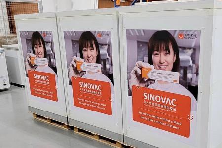 101,000 Sinovac vaccine doses arrive in Singapore