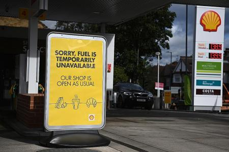 Up to 90% of UK petrol stations run dry amid trucker shortage