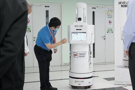Robot Hiro complements nurses at Tampines Polyclinic