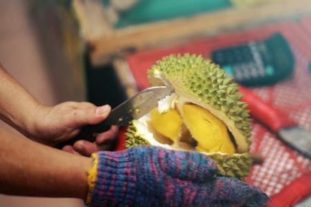 Durian seller gives out 500kg free durians on his birthday