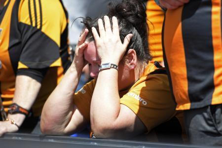 Hull fan looks dejected