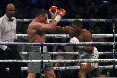 Antony Joshua against Wladimir Klitschko