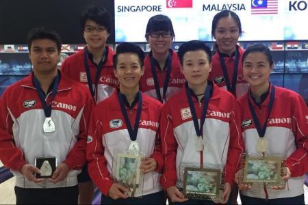 Singapore's women bowlers win silver in world meet