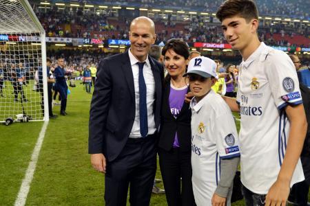Zinedine Zidane and his wife Veronique