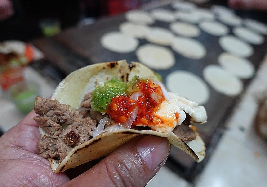 Fine fare and tacos in Mexico City