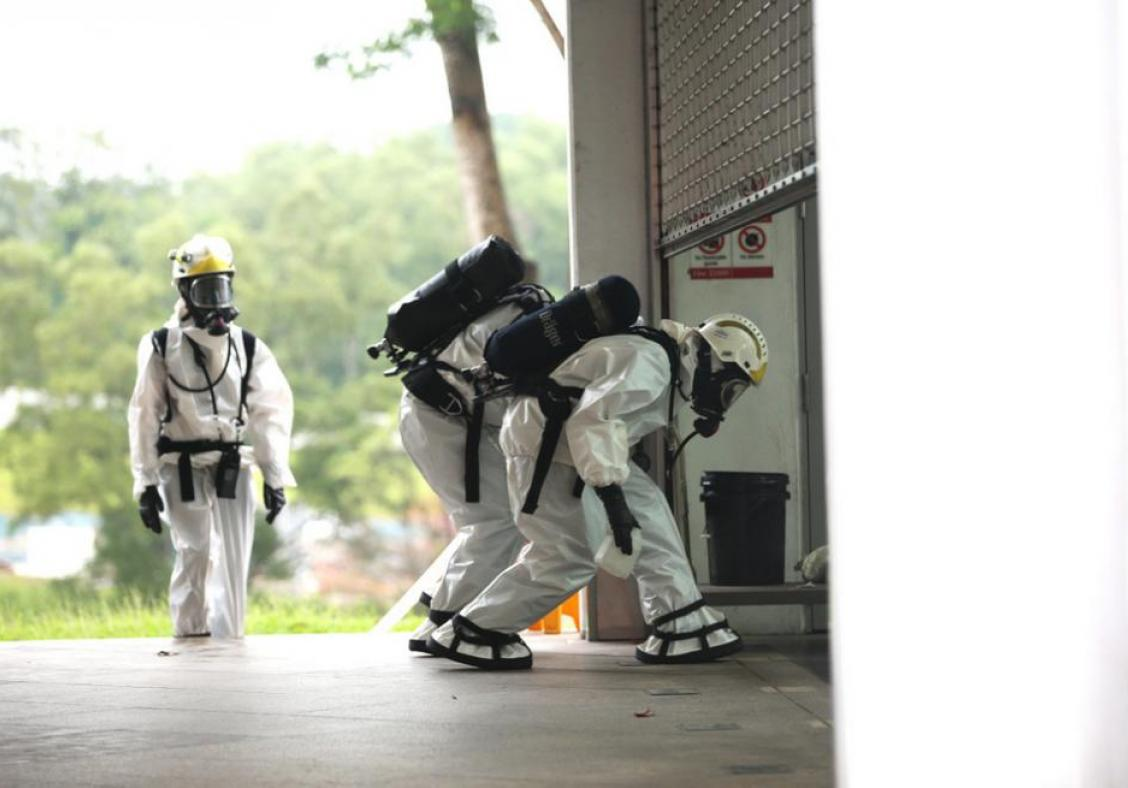 Woodleigh MRT station has been temporarily closed after a 'suspicious substance' was' found.