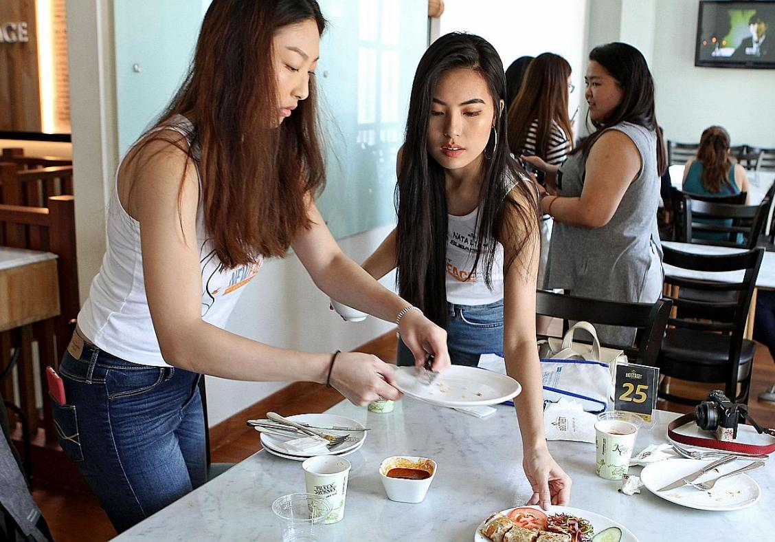 New Face finalists pitch in at buffet charity lunch
