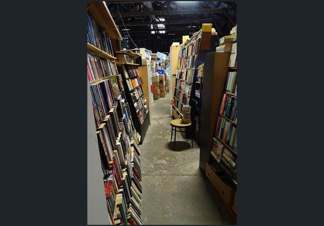 Books, books, a barn full of books