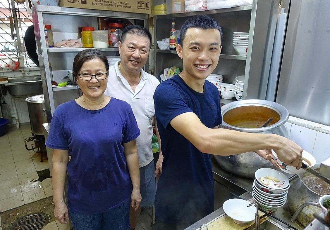 Comforting prawn mee soup and laksa