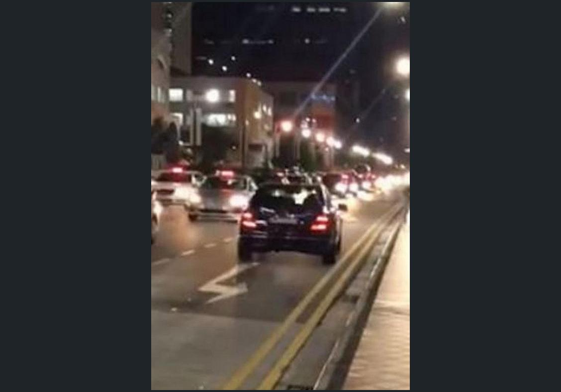 Car seen going against traffic in video