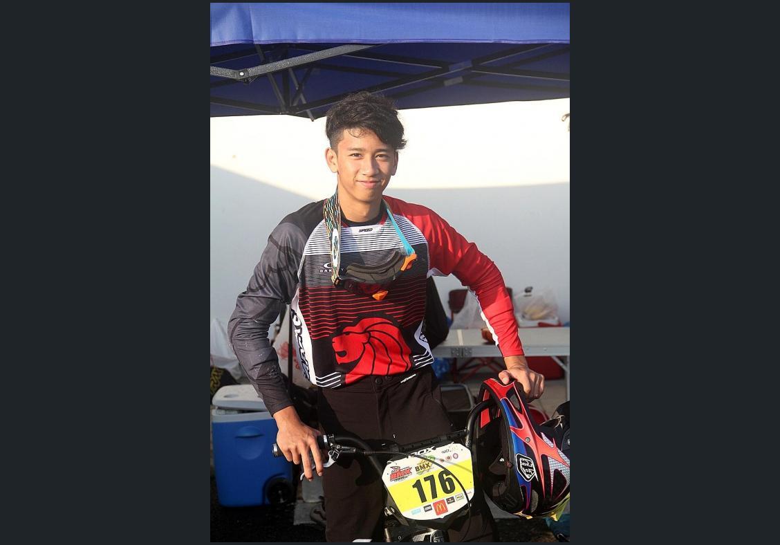 Dyslexia can't stop BMX racer Mas Ridzwan from winning