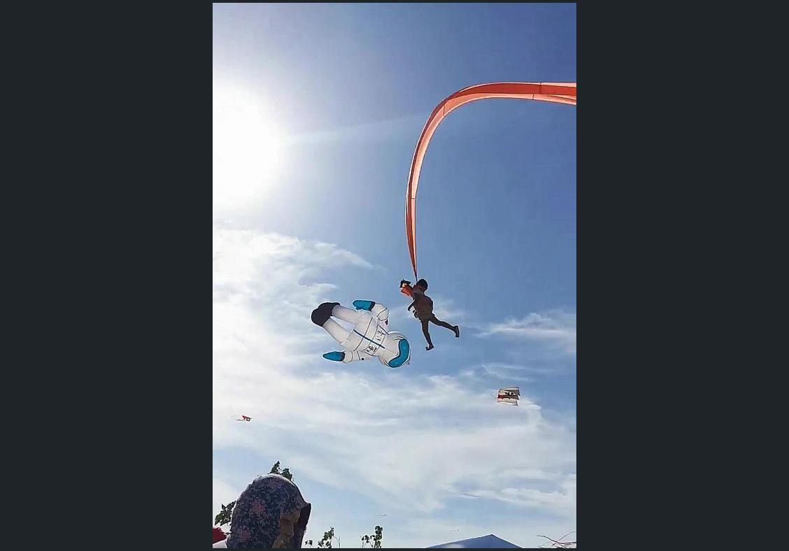 Girl, 3, survives wild ride caught in tail of giant kite