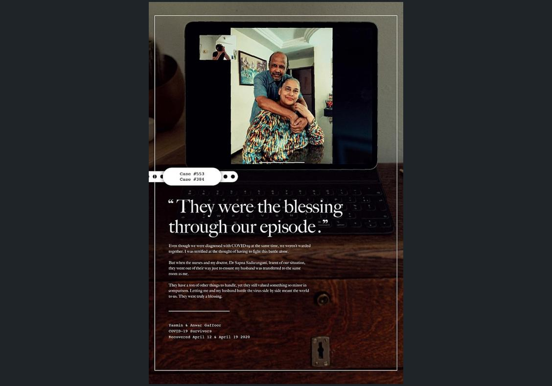 Covid survivors feature in ad campaign saluting healthcare workers