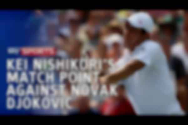 Kei Nishikori's match point from win over Novak Djokovic in US Open 2014