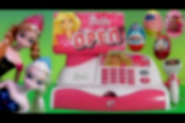 Barbie Cash Register Toy App Checkout Toy App-Rific Disney Princess Anna Elsa Surprise Frozen