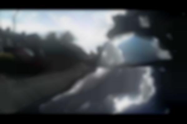PoV VW Golf hits cyclist