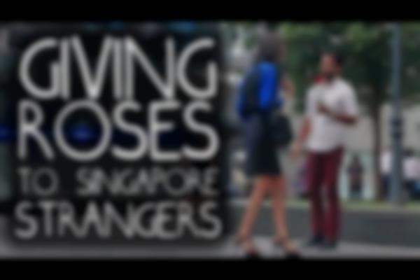 Are Singaporeans Emotionless on Valentine's Day? Giving Flowers to Strangers