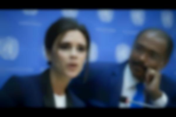Victoria Beckham appears at United Nations