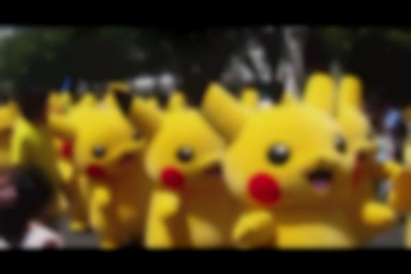 Pikachu Parade in Yokohama, Japan