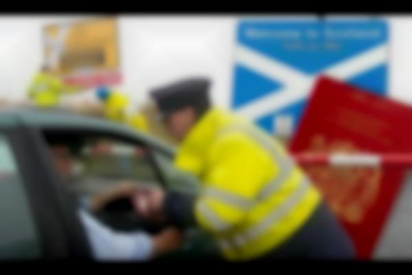 Referendum Joke: Pranksters Set Up Fake Passport Control At Scottish Border