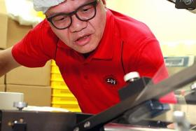 NEW MACHINERY: Mr Bruce Lei of Bake Mission.