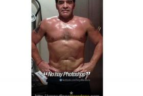 Maradona recently posted a photo on his Facebook, showing off his toned bod.