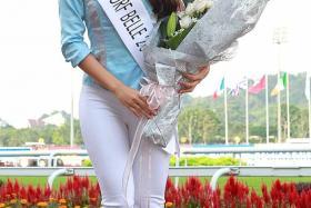 WINNER: Miss Bernadette Belle, winner of Singapore Turf Club's Turf Belle 2014.