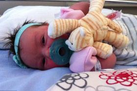 Baby Victoria was taken from hospital by a woman dressed as a nurse.
