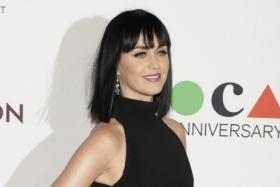 Singer Katy Perry attends the Museum of Contemporary Art's 35th Anniversary Gala presented by Louis Vuitton at The Geffen Contemporary at MOCA in Los Angeles.