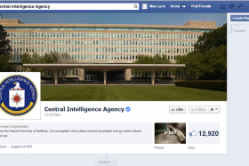 CIA joins Facebook and Twitter.