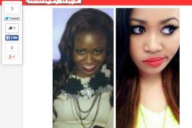 A screen grab from Nairobi Wire website. The picture shows the contrast between the old Vera (pre-bleaching) and the new Vera (post-bleaching).