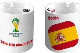 CUP OF NATIONS: The World Cup Collectible Mugs will feature the flags of eight participating countries.