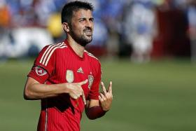 PLAY HIM: David Villa (above) will fit better in Spain's system, rather than Fernando Torres or Diego Costa.