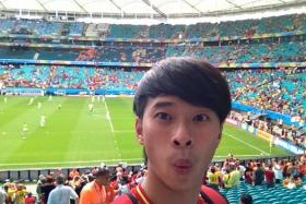 David Lee at the Spain-Holland match