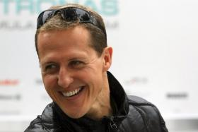 F1 legend Michael Schumacher has emerged from a coma caused by a ski accident in December.
