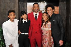 Willow Smith (second from left) keeps up to 10 snakes in her room, and even cuddles with them in bed. They also occasionally slither into the bed of Jaden (far left). PHOTO: