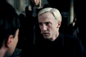 UK actor Tom Felton as Draco Malfoy in the Harry Potter films.