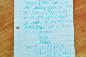 A Google employee scored a week-long summer vacation after his daughter, who signed off as Katie, wrote this letter to his bosses.