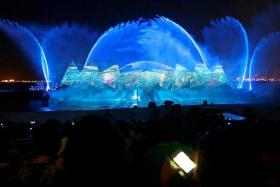 SHOW TIME: A scene from Sentosa's latest signature night extravaganza, Wings Of Time.