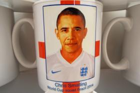 A company which makes World Cup merchandise in Dorset mistook US president Barack Obama for England defender Chris Smalling and printed a batch of mugs with the erroneous picture.