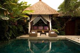 RESORT: Mr Chuan Kok Leong and his companion, Miss Luo Yuesha, checked into a villa like this one in Mahagiri Villas.