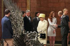 The Queen was not impressed enough with the throne to take a seat.